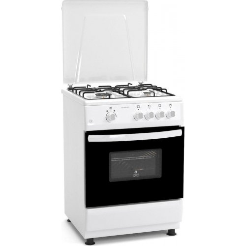 THERMOGATZ TG-1000-WH (FS6402MXZW) Κουζίνα Αερίου με 4 Εστίες & Φούρνο Αερίου Αέρα Λευκή 64Lt 0025780