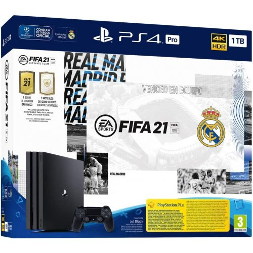 SONY PlayStation 4 Pro 1TB & FIFA 21 + FIFA 21 Edision Real Madrid με 1 Dual Shock 4 Wireless Controller (CUH-7216B) 0025784