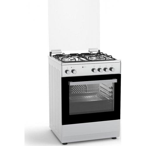 THERMOGATZ TGS-3520 IX TURBO Κουζίνα Αερίου με 4 Εστίες & Φούρνο Ηλεκτρικό Αέρα 60Lt 0025785