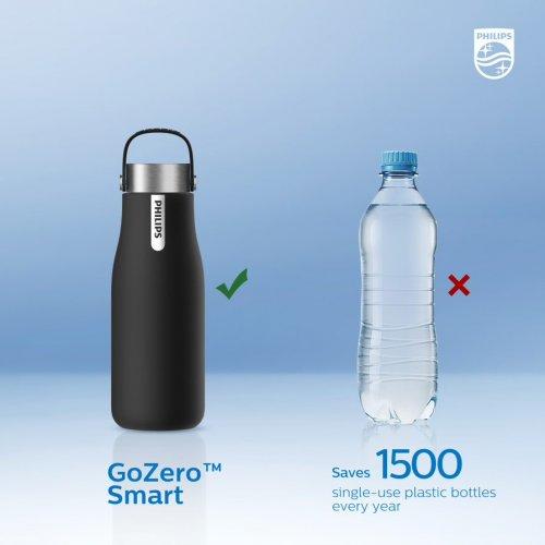 Philips AWP2788BK/10 Μπουκάλι Νερού Ενυδάτωσης απο Ανοξείδωτο Ατσάλι (GoZero) 590ml 0026615