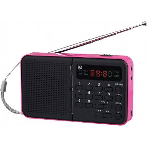 IQ PR-140 Ψηφιακό Αναλογικό Ραδιόφωνο με USB Ροζ 0026696