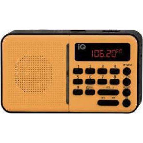 IQ PR-140 Ψηφιακό Αναλογικό Ραδιόφωνο με USB Κίτρινο 0026697