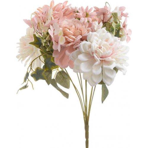 INART 3-85-505-0049 Λουλούδι Μπουκέτο Pl/Ύφασμα Ρόζ Υ45 0026833