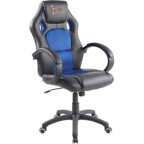 LGP 021530 Gaming Chair  Μαύρο/Μπλε Δέρμα Καρέκλα Γραφείου 0026867
