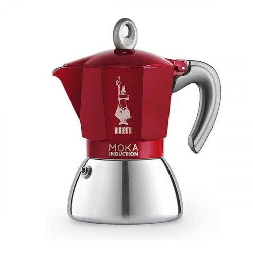 BIALETTI 0006946 Moka Induction Καφετιέρα Αλουμινίου 6 Μερίδων 280ml (9.4OZ) Κόκκινο (Rossa) 0026940