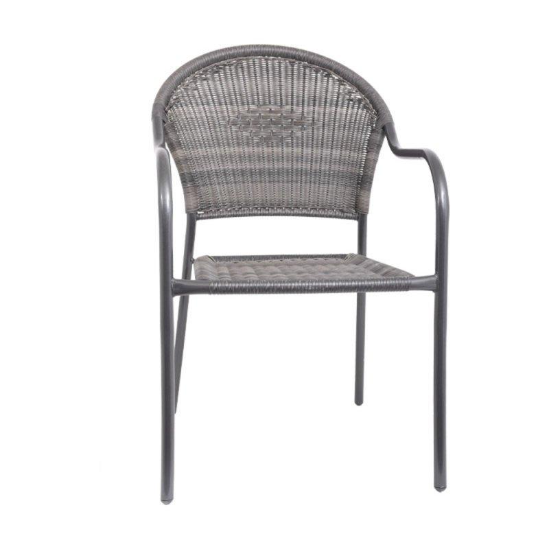 FYLLIANA 410-00-312 Καρέκλα Rattan Steel Γκρί Rattan 65x54x87 0026973