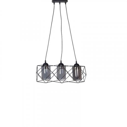 FYLLIANA 835-00-128 Φωτιστικό  Μεταλλικό Οροφής 3Φωτο Μακρόστενο  Μαύρο Χρώμα 0026985