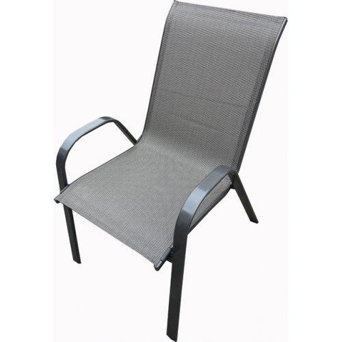FYLLIANA 378-00-010 Καρέκλα Γκρί Με Μπράτσα Textilene 0026988