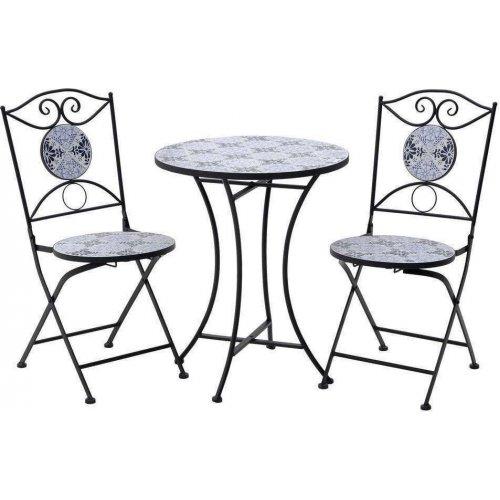 INART 3-50-238-0001 Σετ Τραπέζι Με Καρέκλες Μωσαϊκό 40χ72 0028037