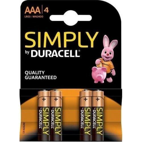 DURACELL SIMPLY Αλκαλικές Μπαταρίες AAA 1.5V LR3 4 τμχ 0028076