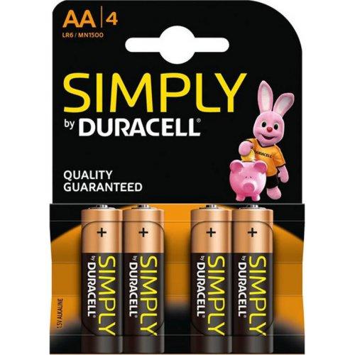 DURACELL SIMPLY Αλκαλικές Μπαταρίες AA 1.5V LR6 4 τμχ 0028077