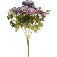 INART 3-85-505-0040 Λουλούδι/Μπουκέτο Μπλε/Ροζ Υ40
