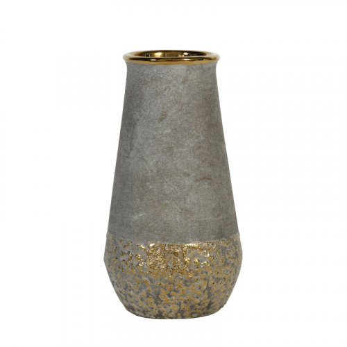 FYLLIANA 0024-91-069 Κεραμικό  Βάζο Χρυσό 21,5εκ 12033