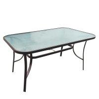 FYLLIANA 378-00-011 Τραπέζι Εξοχής Steel Καφέ 140 x 80 x 70