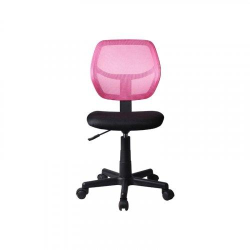 FYLLIANA 093-27-098 Καρέκλα Γραφείου Χωρίς Μπράτσα 5156Ρ Μαύρη/Ροζ 41χ52χ80/92 0019256