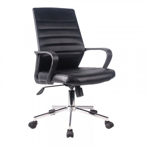 FYLLIANA 093-27-112 Καρέκλα Γραφείου Μαύρη Δερματίνη 5568L 57χ60χ92.5/100