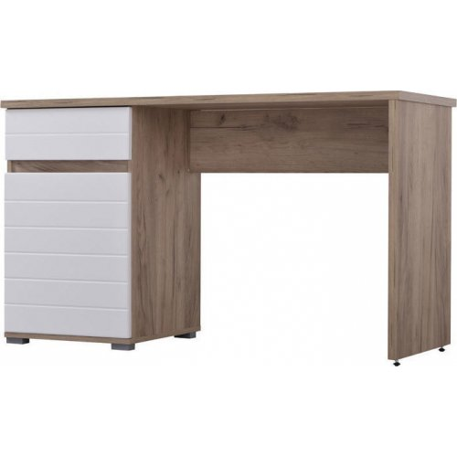 FYLLIANA 11005825 Γραφείο Elan Grey Oak/Λευκή Λάκκα 130χ50χ75,5εκ.
