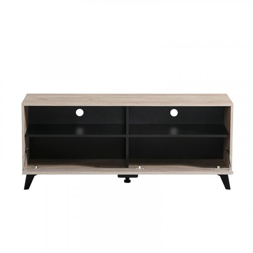 FORMA IDEALE 11007383 Έπιπλο Τηλεόρασης Umbria Tv 140 Grey Oak-Μαύρο 137,5χ40χ57,5εκ.