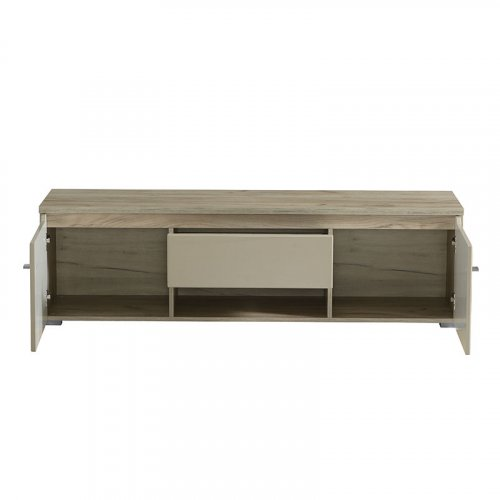 FORMA IDEALE 11007404  Επιπλο Τv Toscana Tv 155 Grey Oak-Sand Γυαλιστερό Foil 153χ40χ44,5