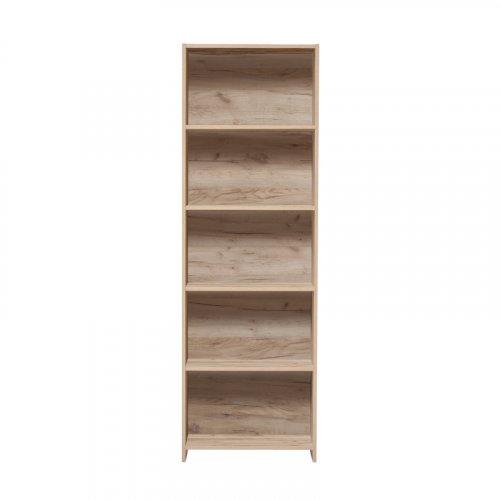 FORMA IDEALE 11007727 Βιβλιοθήκη Buki Grey Oak 5P 57x24.5x175.5εκ.