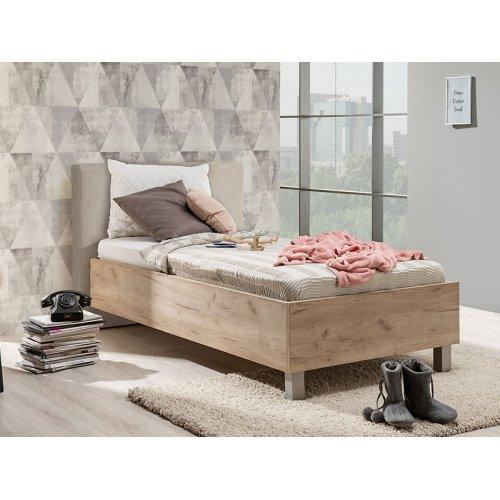 FORMA IDEALE 11008660 Κρεβάτι Castelo 90 Grey Oak-Μπέζ Υφασμα 106.5χ211.5χ93.5 (90χ200)