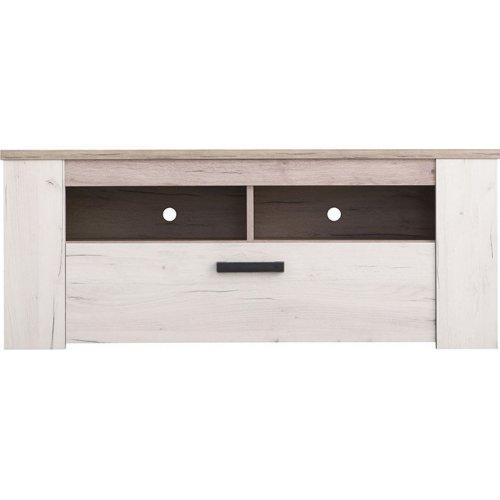 FORMA IDEALE 11008806 Έπιπλο Tv Kent 120 Grey Oak/White Oak 122,5x43,5x49,5 εκ.
