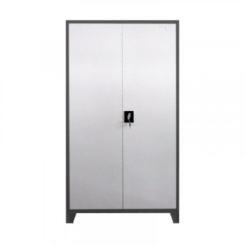 FYLLIANA 721-00-001 Μεταλλική Ντουλάπα Everet Γκρι - Λευκό 90 x 40 x 190