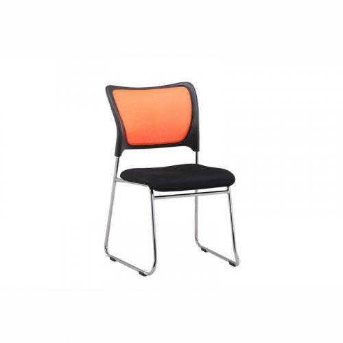 FYLLIANA 211-16-006 Καρέκλα Μαύρη/Πορτοκαλί Πλάτη C17001 BC29 62χ45.5χ78.7
