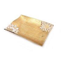 FYLLIANA YYP-1 0012-25-015 Πιατέλα Χρυσό/Λευκό Λουλούδι 26εκ.