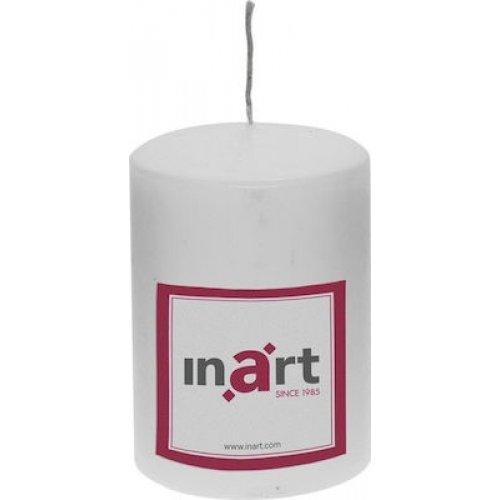 INART 3-80-474-0004 Κερί Παραφίνης White  7 cm, Ύψος: 10 cm 0025829