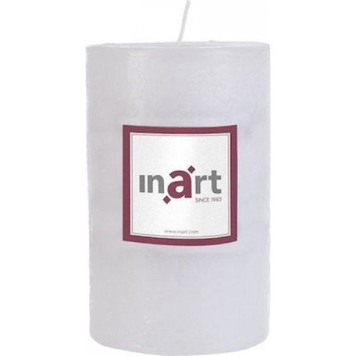INART 3-80-658-0041 Κερί Παραφίνης Άρωμα Βανίλια Λευκό 9X14 0025835