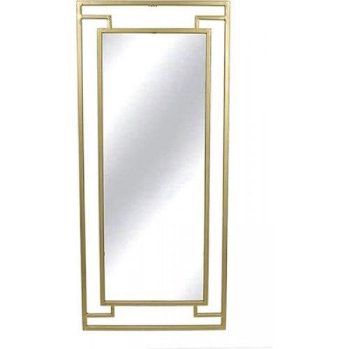 INART 3-95-954-0013 Καθρέφτης Τοίχου Μεταλλικός Χρυσός 40χ2χ90εκ. 0025887