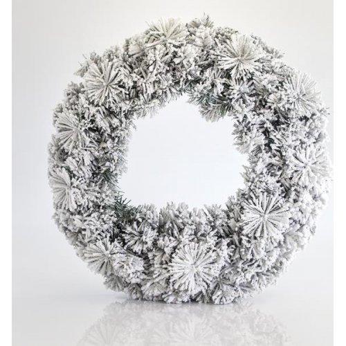 EUROLAMP 600-30212 Στεφάνι Χιονισμένο Narural, 50 cm