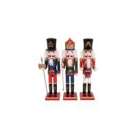 FYLLIANA 373-92-334 Ξύλινο Χριστουγεννιάτικο Διακοσμητικό 1/3 Μολυβένιος Στρατιώτης 38εκ