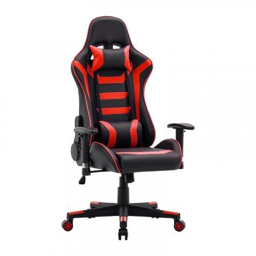 FYLLIANA 387-00-006 Καρέκλα Gaming SAR-1 Μαύρο-Κόκκινο Τεχνόδερμα 64χ53χ135 0023557