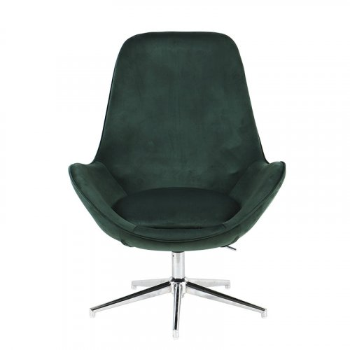 FYLLIANA 429-91-009 Πολυθρόνα Με Βελούδινο Ύφασμα MY-9261 Σκούρο Πράσινο Χρώμα 77x75x104εκ.
