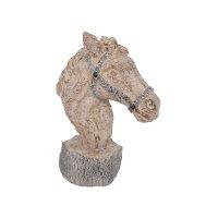 FYLLIANA 266-92-439 Διακοσμητικό Επιτραπέζιο Κεφάλι Αλόγου Μπεζ 19χ11χ26εκ.