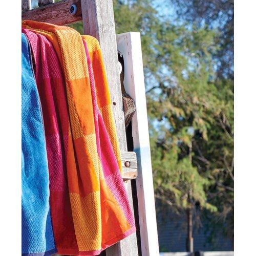 KENTIA  Almira 18 Πετσέτες Θαλάσσης Βελουτέ 90x180 Orange-Pink 0027461