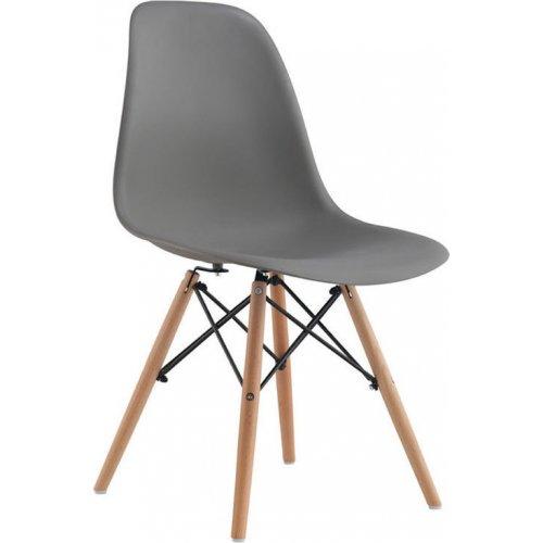 FYLLIANA 606-82-074 Καρέκλα Y-134 Γκρι Κάθισμα Ξύλινα Πόδια 46.5χ53.5χ80εκ.