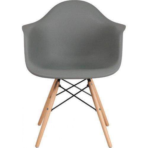 FYLLIANA 630-00-006 Καρέκλα Casual Γκρί Κάθισμα Με Φυσικά Πόδια 65χ64χ79