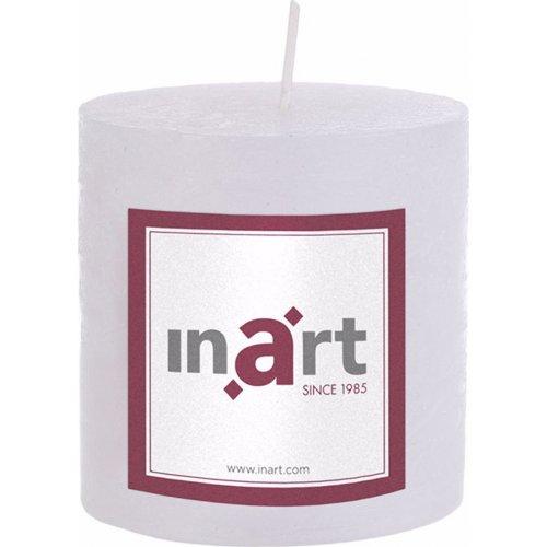 INART 3-80-658-0013 Κερί Παραφίνης Άρωμα Βανίλια Λευκό 7 x 7,5