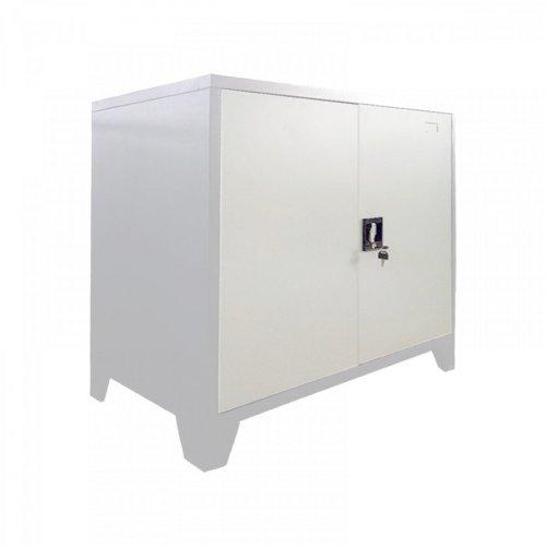 FYLLIANA 721-00-004 Μεταλλική Ντουλάπα Durango Λευκό Χρώμα 90 x 40 x 100