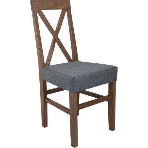 FYLLIANA 839-00-691 Καρέκλα Τραπεζαρίας Tx Grey Oak-Σιελ 43χ44χ98εκ.