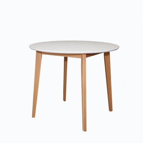 FYLLIANA 863-18-008 Τραπέζι Τραπεζαρίας Max S Λευκό Στρογγυλό 90 x 75