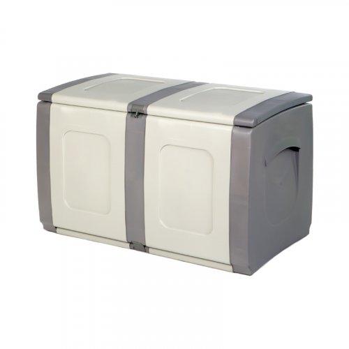 FYLLIANA 882-00-012 Πλαστικό Μπαούλο Αποθήκευσης Ήφαιστος Γκρι Ανθρακί 94 x 54 x 57 εκ