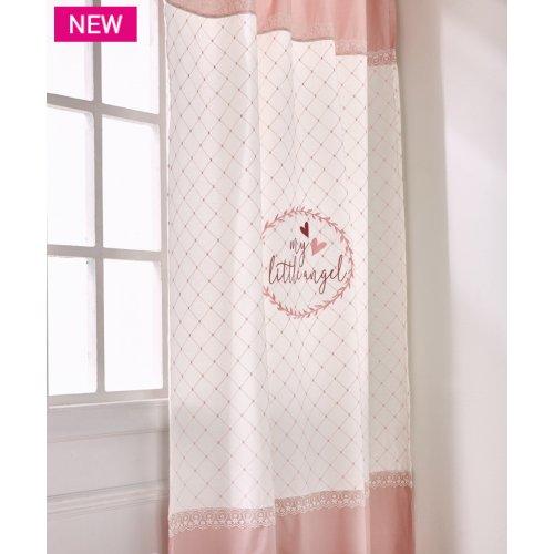 KENTIA Angel Κουρτίνα Light-Pink-Ecru 0024445