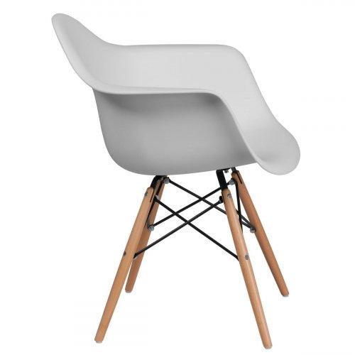 FYLLIANA 630-00-004 Καρέκλα Casual Λευκό Κάθισμα Με Φυσικά Πόδια 65χ64χ79