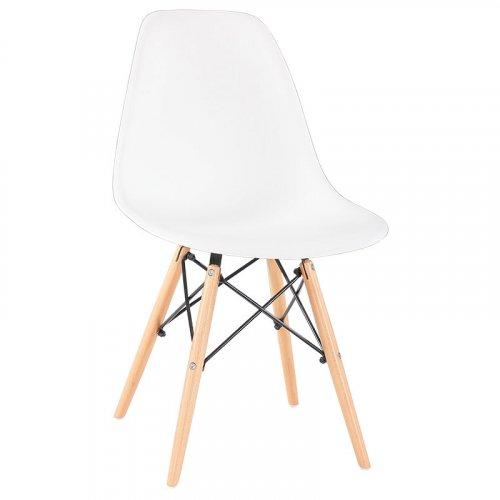 FYLLIANA 630-00-001 Καρέκλα Τραπεζαρίας Art Λευκό Κάθισμα Με Φυσικά Πόδια 46.5χ53.5χ80