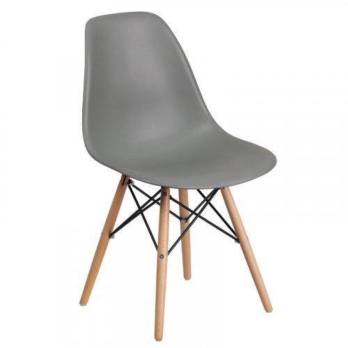 FYLLIANA 630-00-003  Καρέκλα Τραπεζαρίας Art Γκρί Κάθισμα Με Φυσικά Πόδια 46.5χ53.5χ80