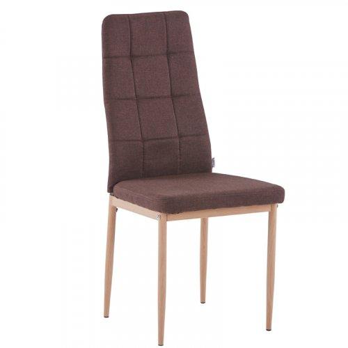 FYLLIANA 606-92-085 Καρέκλα Τραπεζαρίας 1001-1F Καφέ Υφασμα 44χ43χ96